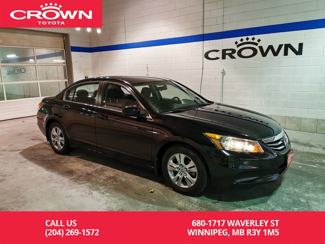Pre-Owned 2012 Honda Accord Sedan SE / Low Kms / Remote Starter / Almost New Tires