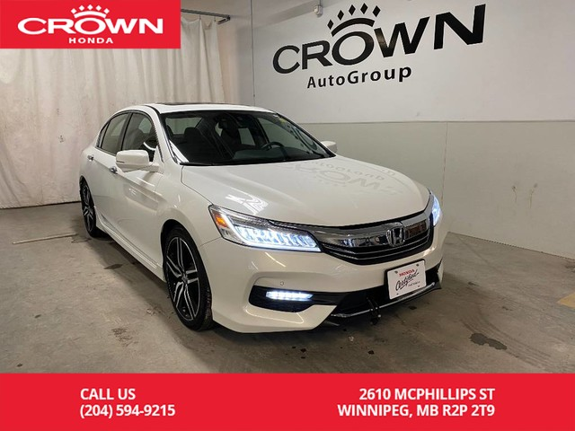 Pre-Owned 2017 Honda Accord Sedan 4dr I4 CVT Touring/ ONE OWNER/ LOW KMS/ HEATED SEATS/ BACKUP CAMERA/ BLUETOOTH