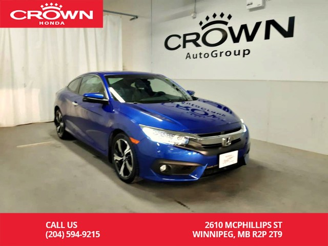 Certified Pre-Owned 2016 Honda Civic Coupe 2dr CVT Touring/one owner/ navigation sys/ econ mode/ sunroof/ h