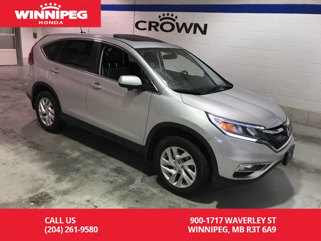 Pre-Owned 2015 Honda CR-V EX-L/Sunroof/Heated seats/Rear view camera/Leather