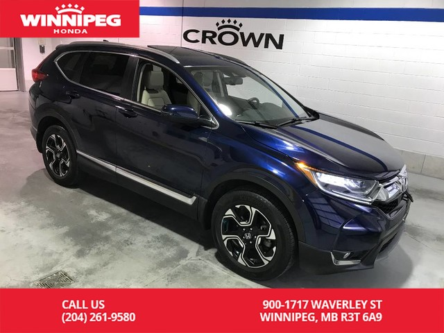 Certified Pre-Owned 2017 Honda CR-V Certified/Touring/Panoramic roof/Heated steering wheel/Heated fr