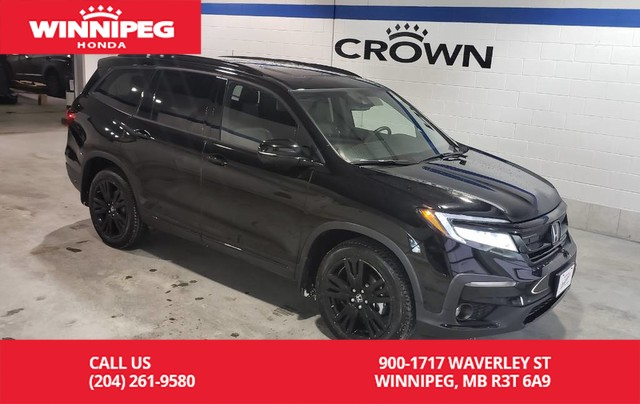 Certified Pre-Owned 2019 Honda Pilot Black Edition AWD/Navi/DVD/Cooled seats/heated steering wheel