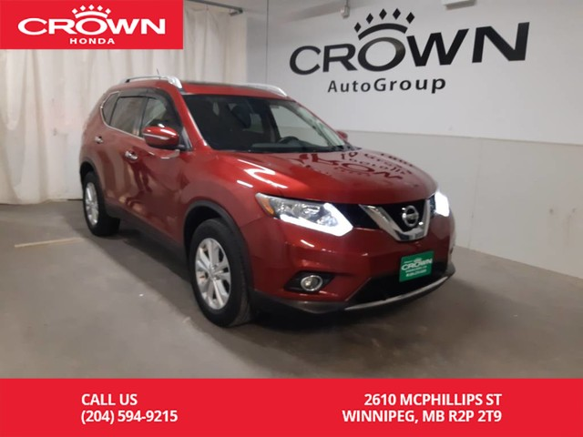 Pre-Owned 2015 Nissan Rogue SV/AWD/ ONE OWNER/LOW KMS/panoramic moonroof/ PUSH START BUTTON