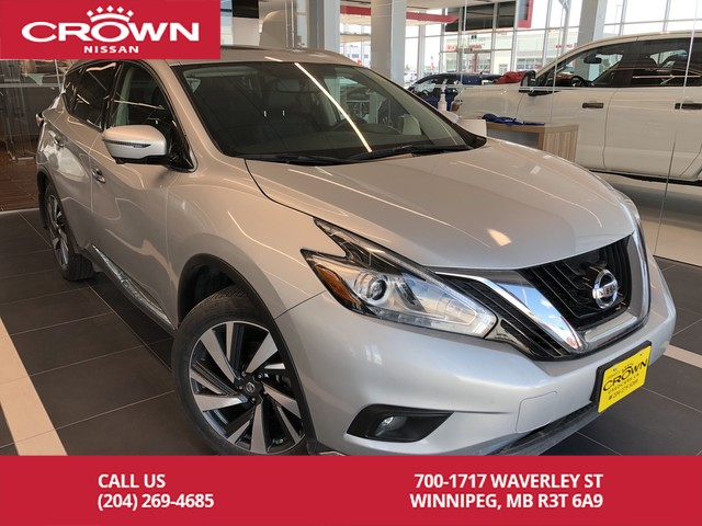 Pre-Owned 2017 Nissan Murano Platinum AWD V6 *Clean CarFax/Local Trade*