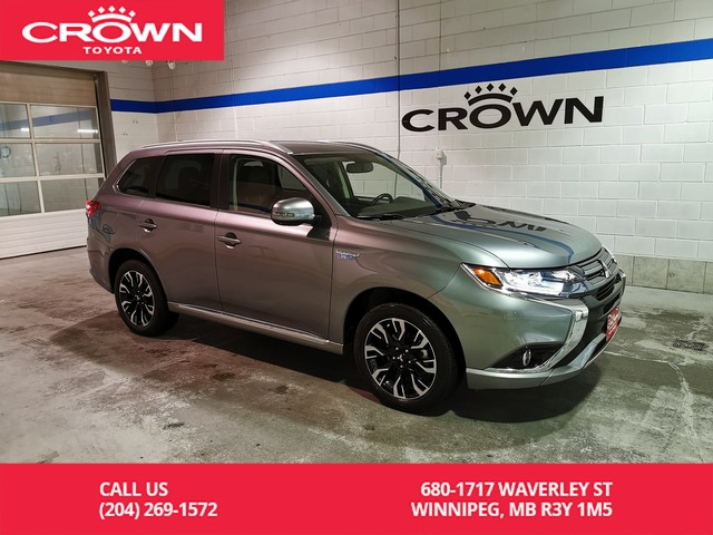 Pre-Owned 2018 Mitsubishi Outlander PHEV SE S-AWC / Leather / Clean Carproof / Apple Carplay / Android Auto / Low Kms / Plug In Hybrid