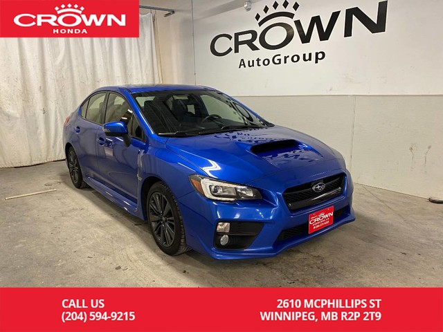 Pre-Owned 2017 Subaru WRX 4dr Sdn Sport Man | ONE OWNER | ACCIDENT FREE | LOW KMS | BACKUP CAMERA | SUNROOF | BLUETOOTH CONNECTION