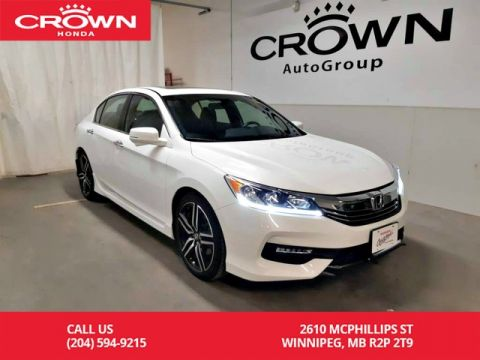 Pre-Owned 2017 Honda Accord Sedan Sport/ one owner lease return/ low kms/ push start/ heated seats/ sunroof/ bluetooth