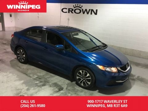 Certified Pre-Owned 2015 Honda Civic Sedan Certified/Bluetooth/Heated seats/Rear view camera