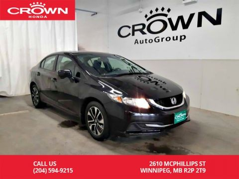 Certified Pre-Owned 2015 Honda Civic Sedan EX/push start/ sunroof/ econ mode/ back up cam