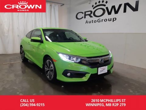 Certified Pre-Owned 2016 Honda Civic Coupe EX-T/2DR/ ONE OWNER/ ACCIDENT-FREE/ LOW KMS/ HEATED SEATS/ ECON MODE/ BACK UP CAM/BLUETOOTH