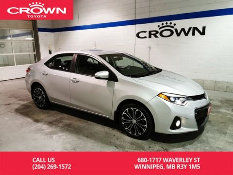 Pre-Owned 2015 Toyota Corolla S Upgrade Pkg / Crown Original / One Owner / Local / Low Kms