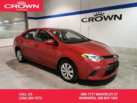 Certified Pre-Owned 2016 Toyota Corolla LE / Crown Original / Accident Free / Only Services With Toyota / Best Value