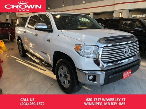Pre-Owned 2016 Toyota Tundra Crewmax Limited / Highway Kms / Leather / Full Size